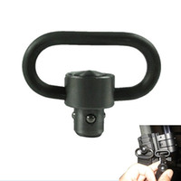 Wholesale heavy swivels - wholesale price QD Heavy Duty Quick Release Detach Push Button Sling Swivel Adapter Set Picatinny Rail Mount Base 20mm Connecting Sling Ring