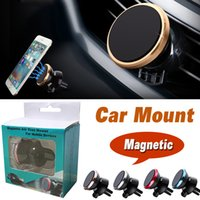 Wholesale Smartphone Air - Car Mount Air Vent Magnetic Universal Car Phone Holder 360 Rotation One Step Mounting Reinforced Magnet Easier Safer Driving For Smartphone