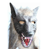 Wholesale Latex Animal Wolf Masks Fancy Dress Halloween Scary C013