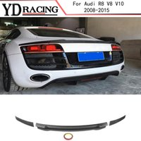 Per Audi R8 Spoiler V8 V10 Coupe 2008-2015 In fibra di carbonio posteriore Spoiler Trunk Lip Wing Car Styling