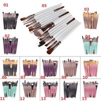 Wholesale Make Up Brush Set 15pcs - Hot sell 15Pcs Professional Make up Brushes Set Foundation Blusher Powder Eyeshadow Blending Eyebrow Makeup Brushes 15 stylesin stock