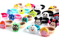 Wholesale Silicone Animal Bands - More styles Lovely Mickey Minnie Donald's winnie the pooh cartoon children hair bands Female hair rope 100pcs lot