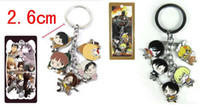 Wholesale Attack Titan Rings - Free Shipping Classic Anime Attack on Titan Keychains Metal Figures Pendants Charms Key Ring 10pcs lot wholesale