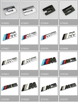 Wholesale Bmw Badge Light - with retail packag CAR BADGE stick silver M3&M5 adhesive logo Cars Decoration Stickers For BMW Sticker Metal 3D Car Sticker 16 styles