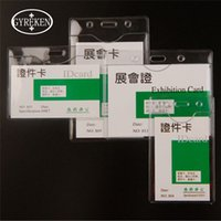 Wholesale Transparent Trunk - 50PCS lot Wholesale Colorless transparent Vertical Horizontal Credit Card Cover Holders Soft PVC Bank Card ID Holders Identity