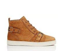 ingrosso scarpe da cammello-2017 nuovo cammello pelle scamosciata uomo Sneakers basse inferiori scarpe uomo Spikes scarpe doppio colore rivetti alta qualità all'ingrosso