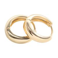 Wholesale Earrings Gold Hoops Men - Wholesales Fashion Jewelry Unisex Men Women 18K Yellow Gold Plated Plain Huggie Hoop Earrings Best Gift