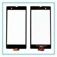 digitalizador xperia z touch al por mayor-Reemplazo de la pantalla táctil para Sony Xperia Z L36h L36 LT36i C6603 C6602 Touch Panel Sensor Digitalizador de la lente de vidrio Envío gratis