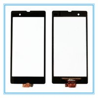 Wholesale Xperia Z Panel - Replacement Touch Screen For Sony Xperia Z L36h L36 LT36i C6603 C6602 Touch Panel Sensor Digitizer Glass Lens Free Shipping