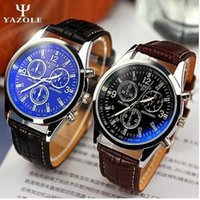 Wholesale Cheap Wholesale Fashion Watches - 2016 hot sale YAZOLE 271 Fashion Luxury Brand Watches Men PU Leather Band Live Waterproof Quartz watch cheap sports wristwatch