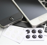 Wholesale Iphone Buttons Stickers - Wholesale-3 pcs white box and 3 pcs black box Home button sticker For iphone 4 5 6s ipod touch 4 touch 5 ipad