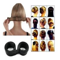 coiffure chignon donut achat en gros de-Femmes Twist Cheveux Bun Maker Donut Styling Tresse Support Accessoire Outil Parfait