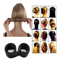 Wholesale Twist Braids Bun - Women Twist Hair Bun Maker Donut Styling Braid Holder Accessory Tool Perfect