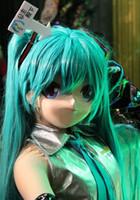 Wholesale Japanese Doll Latex - 2016 Unique Handmade KIG Latex Female Face Japanese Anime Mask Cosplay Kigurumi DOLL Crossdresser Can Custom Color of Hair Eyes