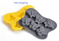 Wholesale Butterfly Candy Mold - 6-cavity butterfly Cake Mold Flexible Silicone Soap Mold For Handmade Soap Candle Candy bakeware baking moulds kitchen tools cake pan
