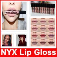 Wholesale nyx lip lingerie new colors online - New Makeup Lips NYX Lip Lingerie Matte Lip Gloss Liquid Matte Lipstick Charming Long lasting Vintage Colors