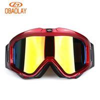 Wholesale Sunglasses Snowboard - Obaolay Polarized Ski Goggles UV400 Anti-Fog Ski Mask Double Layers Sunglasses Men Women Skiing Snow Snowboard Sports Goggles For Protection
