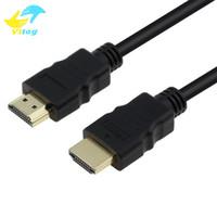 3d hdmi toptan satış-HDMI Erkek Erkek Kablo 1 M 1080 P HD TV HD Laptop için 3D Kablo PS4 Xbox Projektör Bilgisayar Kablosu