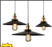 Wholesale Vintage Black Table Lamp - 22*H11cm North American style Vintage nostalgic bar table light bulb black iron pendant lights single bar lamps