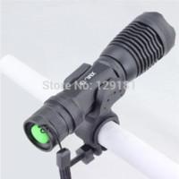 montaje ultrafire al por mayor-Ultrafire CREE XM-L T6 2000 Lúmenes 5 Modo Zoomable Ajuste Led Mini linterna Antorcha de luz de bicicleta Lámpara LED con soporte de montaje
