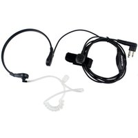 Wholesale Black Throat Mic - RETEVIS 2 Pin PTT Throat MIC Covert Acoustic Tube Earpiece for Motorola Radio GP88 GP300 GP2000 CT150 P040 Black New