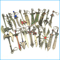 Wholesale Lol Key Chains - League of Legends Game Weapon Keychains, The Galen's Sword BladeMaster Key Chains, LOL Metal Pendant Keychain For Men