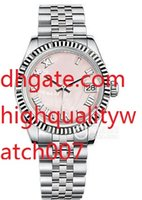 Wholesale steel salmon online - High quality Unisex Midsize Datejust K White Gold mm Pink Salmon Dial New Ladies Watch Women s Watches
