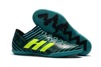 tierra blanda de futbol al por mayor-2018 futsal shoes Hombre fútbol Cleats Nemeziz Tango 17.3 TF zapatos de fútbol indoor soft ground botas de fútbol barato nemeziz