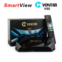 Wholesale Satellite Receiver Boxes - Genuine VONTAR V9S DVB-S2 HD Satellite Receiver Wifi Build in CCCAMD NEWCAMD Weather Forecast Miracast IPTV BOX same as Openbox V9S