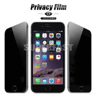 protector de pantalla de cristal iphone al por menor al por mayor-Privacy Glass para el iPhone X XS MAX protector de la pantalla 9H Anti-Spy de la mirada furtiva de pantalla para Samsung Galaxy S3 S6 Nota 5 en paquete al por menor