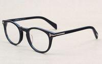 klasik açık toptan satış-Klasik Retro Clear Lens Optik Çerçeveler Gözlükler Marka Tasarımcısı Erkek Bayan Gözlükler 6123 Vintage Plank Spectacle Myopia Gözlük Çerçevesi