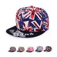 Wholesale Union Hats - 2016 New European Couple Baseball Caps 6 Colors Union Jack Snapback Hats For Men & Women Hip Hop National Flag Ball Caps