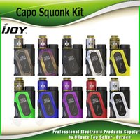 Wholesale peak metal - Original Ijoy Capo Squonk 100W Starter Kits With COMBO RDA Triangle 20700 Battery 3000mAh 40A Peak With 9ml Empty Bottle Kit 100% Authentic