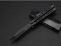 Wholesale Cheapest Wholesale Knives - Cheapest Benchmade C-63BK Titanium Butterfly Balisong 3Cr13Mov 55HRC Tactical Folding Knife Outdoor Camping Hunting Rescue Pocket EDC Tools
