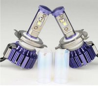 Wholesale 2016 Newest H4 LED Car Headlight High Low W LM White K Repalcement Car Styling Purple Color Unique Style Headlight