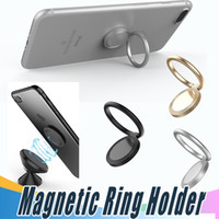 Wholesale Mounting Silver Rings - Magnetic Finger Ring Holder Mobile Phone Ring Mounts 360 Degree Stand Holder For iPhone 8 X Sumsung All Smart Phone