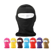 Wholesale Motorcycle Full Mask Winter - Wholesale 200pcs lot Outdoor Protection Full Face Lycra Balaclava Headwear Ski Neck Cycling Motorcycle Mask