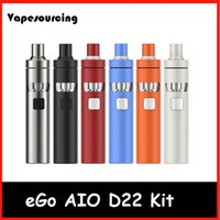 Wholesale Ego Atomizer Body - Joyetech eGo Aio D22 Starter Kit All in one 1500mAh Big Power in small Body with 2ml Atomizer Tank 100% Original