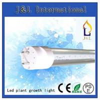 Wholesale T8 Light Growth - T8 LED tube Plant growth light 10W 15W 20W 24W 30W 40W Grow lights SMD2835 AC85-265V 25pcs lot