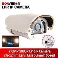 Wholesale Leds Vehicles - HD 8 Inch 2MP 2.8-12mm Lens Highway CCTV Vehicles License Plate Recognition LPR IP Camera With 4Pcs IR White Light LEDs Waterproof