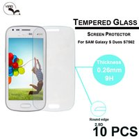 Wholesale Duos S 7562 - 0.26mm 2.5D round edge Ultra-thin Premium Tempered Glass Screen Protector Film For Samsung Galaxy S Duos S7562 7562 s7560 Clean