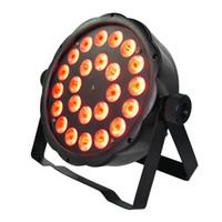dimmer par light al por mayor-4 unids / lote 24x3 W Leds RGB 3in1 LED PAR latas 16 Bit atenuación Wash Disco Light DMX Controller envío gratis