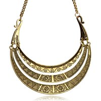 Vintage Bohemian Ethnic Necklace Golden Plating Maxi Multilayer Retro Charm Boho Choker Colar para as mulheres