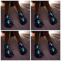 Wholesale Fluorescent Socks - Fluorescent Sports Low Cut Socks Xmas Cartoon UFO Boat Floor Socks Short Ankle Boat Socks Hosiery LJJO2929