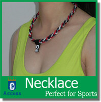 Wholesale Silicone Health Titanium Necklace - Germanium and Titanium 3 Ropes Tornado Necklaces Sport Energy Health Necklace