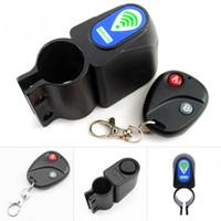 Wholesale Remote Alarm Bike - Wholesale-Professional Anti-theft Bike Lock Cycling Security Lock Remote Control Vibration Alarm Bicycle Vibration Alarm