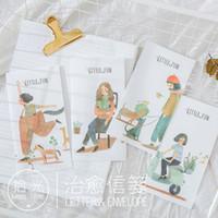 Wholesale Girls Stationery Sets - Wholesale- Little Fun Series Girls 6 Letter & 3 Envelops Set School Student Beautful Stationery Envelopes