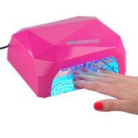 gel led dryers NZ - 36W Diamond Nail Lamp Dryers LED CCFL Nail Dryer Art Tool UV Gel LED Lamp Polish Light Tools Black White Red 0603028