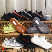 Wholesale Red Sole Rubber - 2017 New 350 Boost V2 Beluga 2.0 Orange Grey AH2203 SPLY 350 Zebra Semi Frozen Yellow With Gum Soles Kanye West Shoes