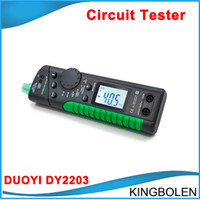 Wholesale Gm Electric Car - New released DUOYI DY2203 car Electric Vehicle Circuit Tester Automotive testing tool Capacity Tester Free Shipping